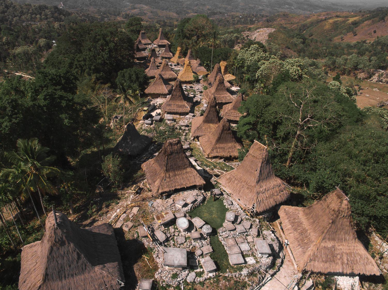 Cap Karoso-sumbanese-houses-air-view