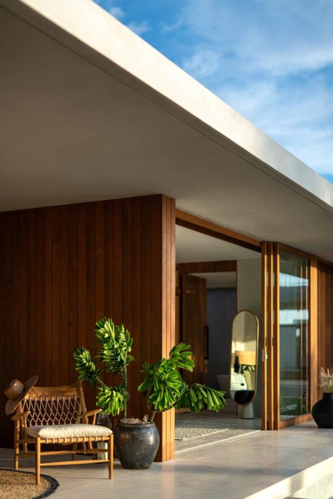 Cap Karoso- Villa N'dara exterior with rope & wood-cropped