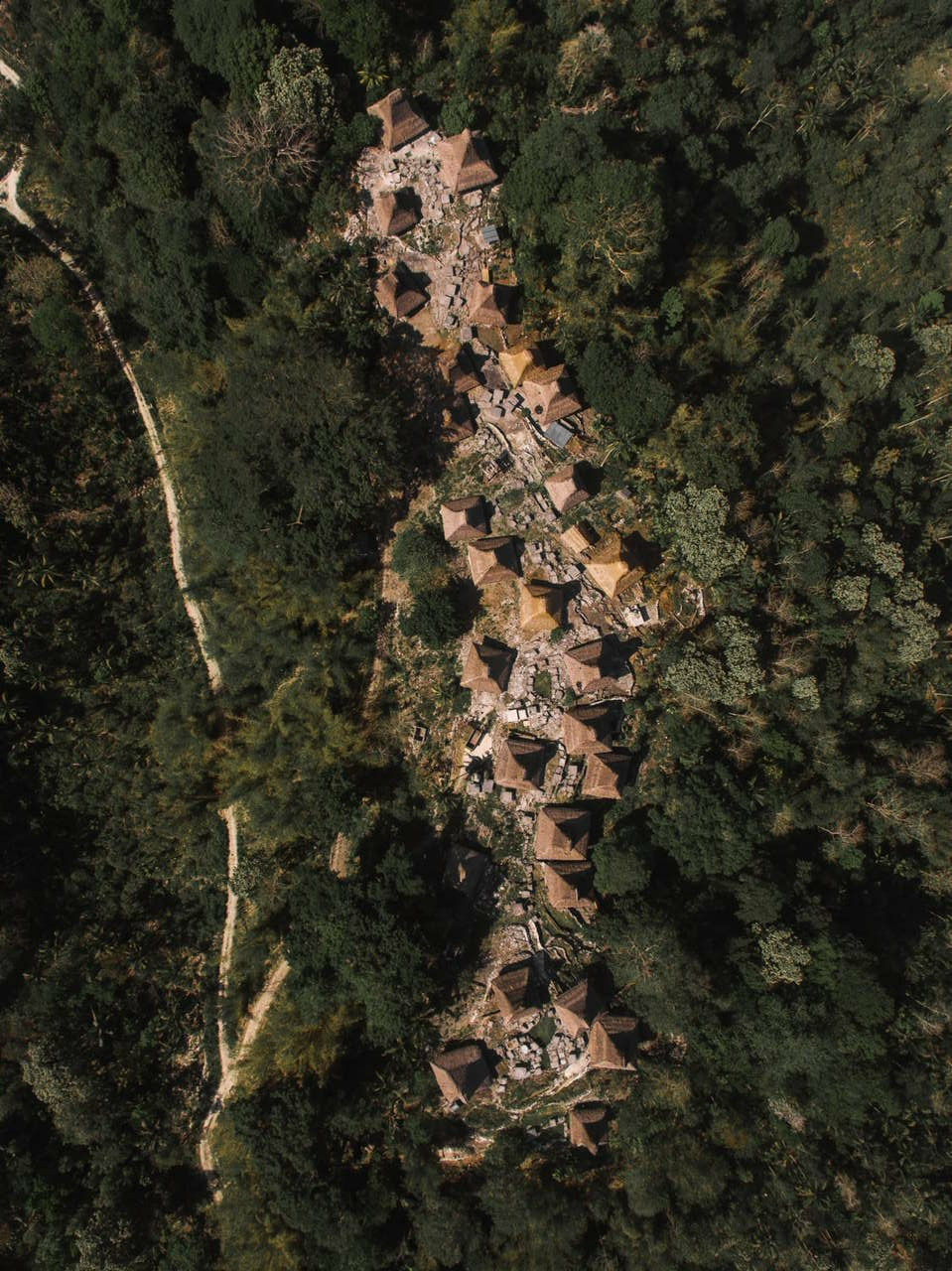 Skyview of traditionam sumbanes village