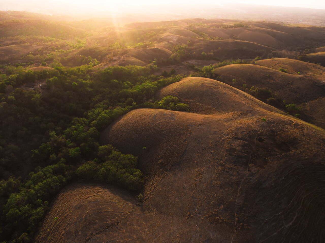 Sumba hills at sunset