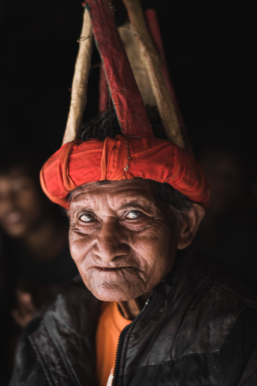 Old sumbanese man with traditional hat